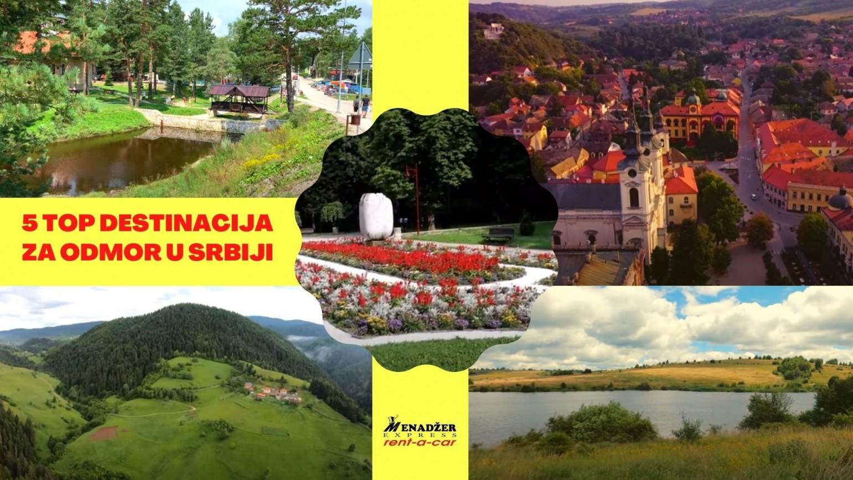 5 top destinacija za odmor u Srbiji uz najam vozila